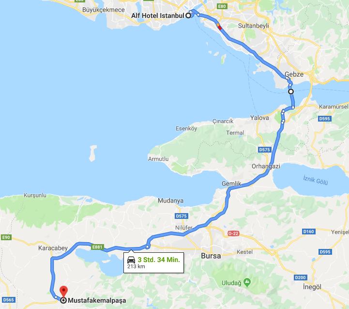 13.05.2019: Istanbul – Mustafakemalpaşa