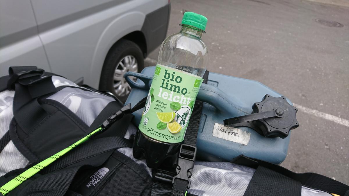 Not-so bio lemonade from Fabi's bike