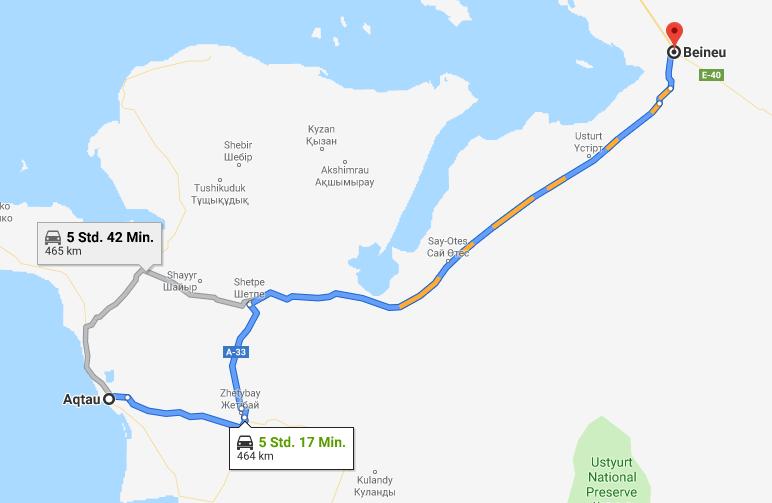 01.06.2019: Aqtau – Beineu